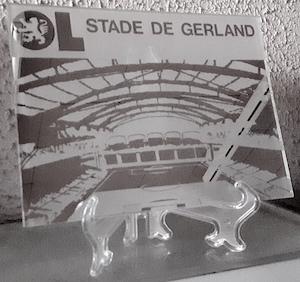 Cr ation c2l miroir sabl personnalis stade gerland for Stade du miroir